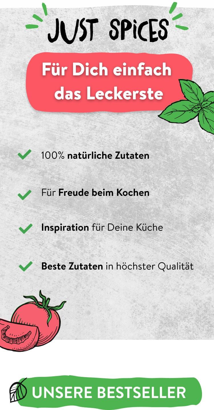 Vorteile Just Spices