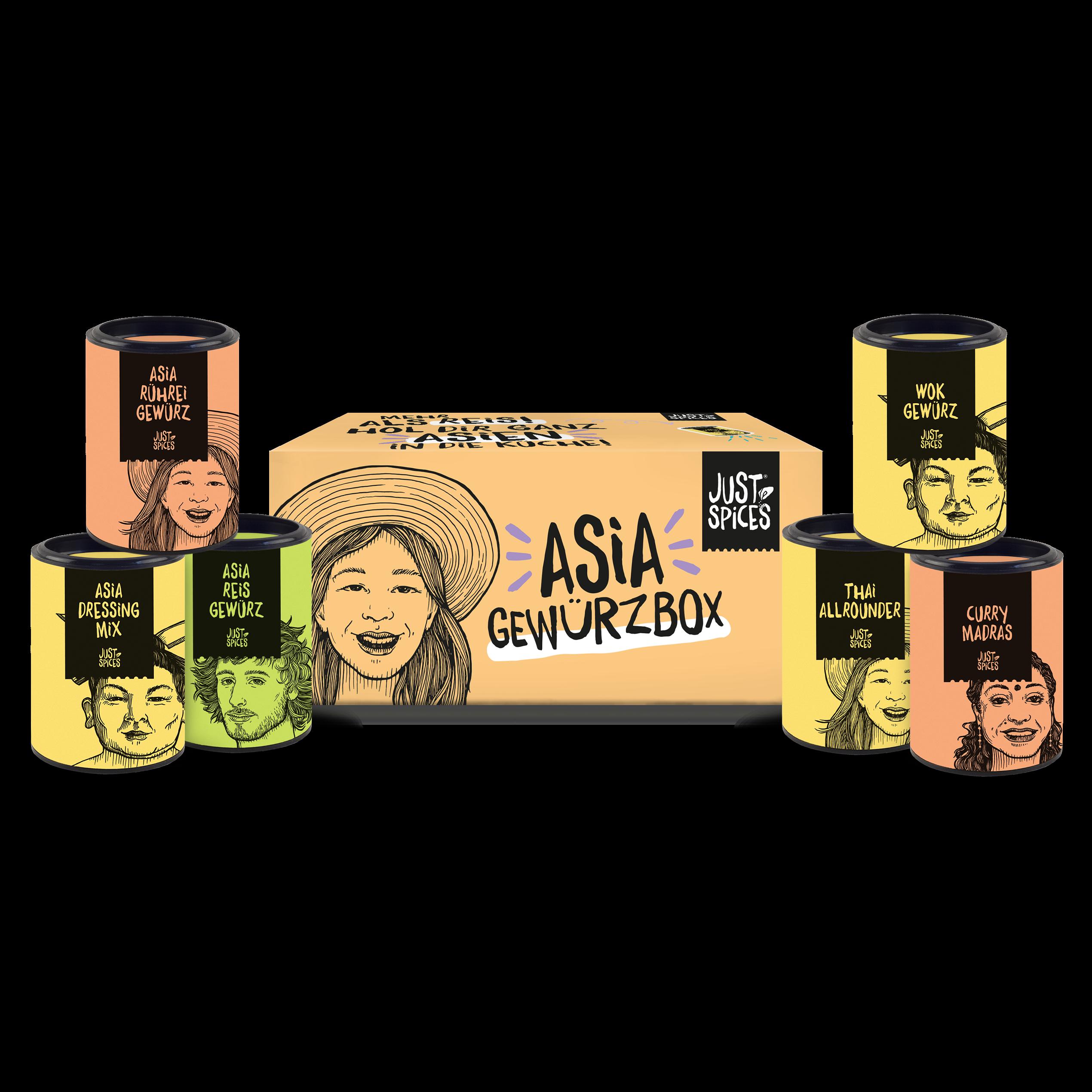 Asia Gewürzbox (6er)