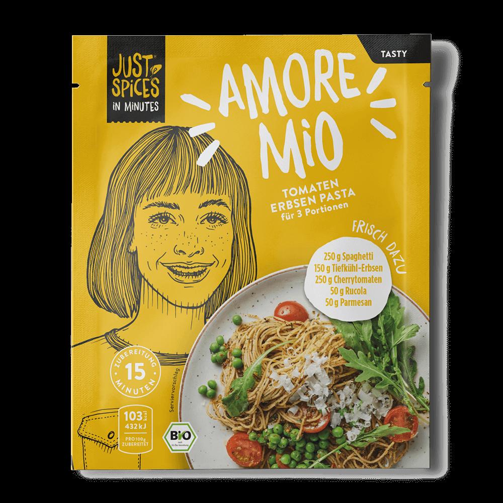 BIO Tomaten Erbsen Pasta - In Minutes - Amore Mio