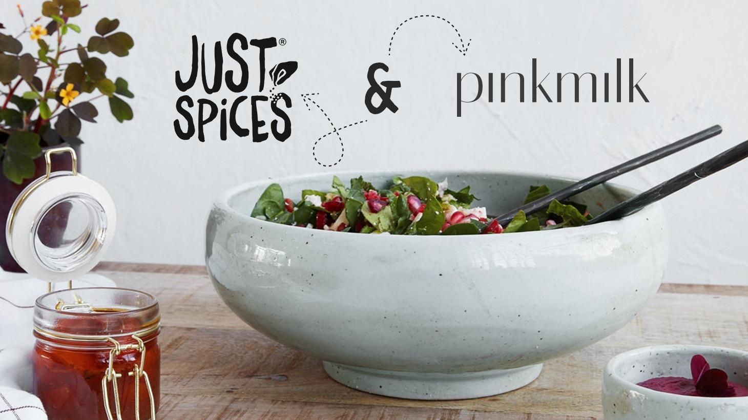 pinkmilk und Just Spices - Das Auge isst mit! Und zwar von schönen Tellern…