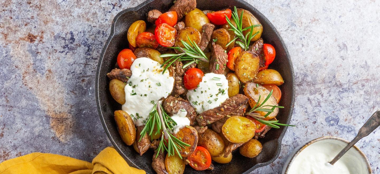 Kartoffel Steak Pfanne