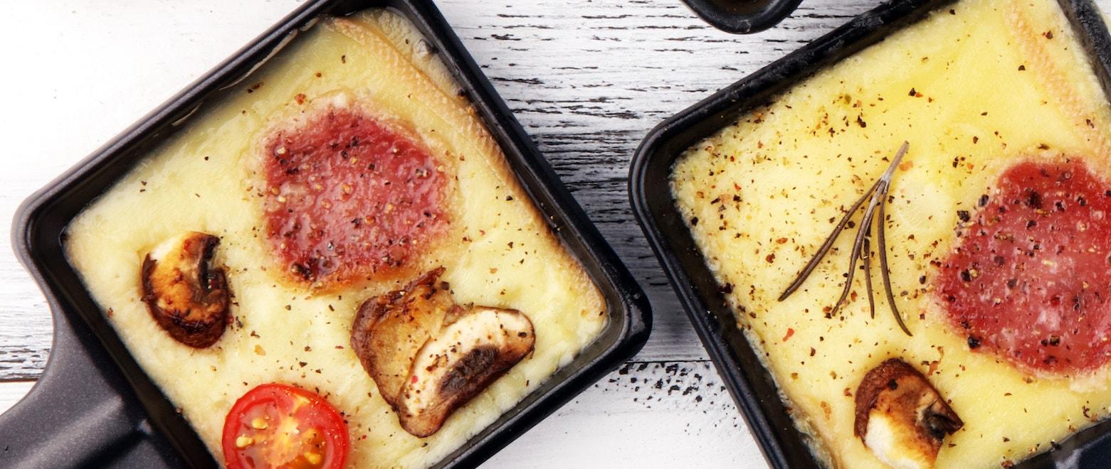 Raclette mit Fleisch
