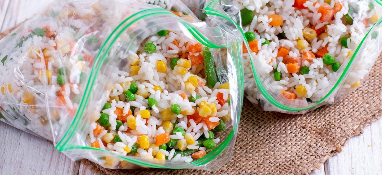 Gekochten Reis einfrieren