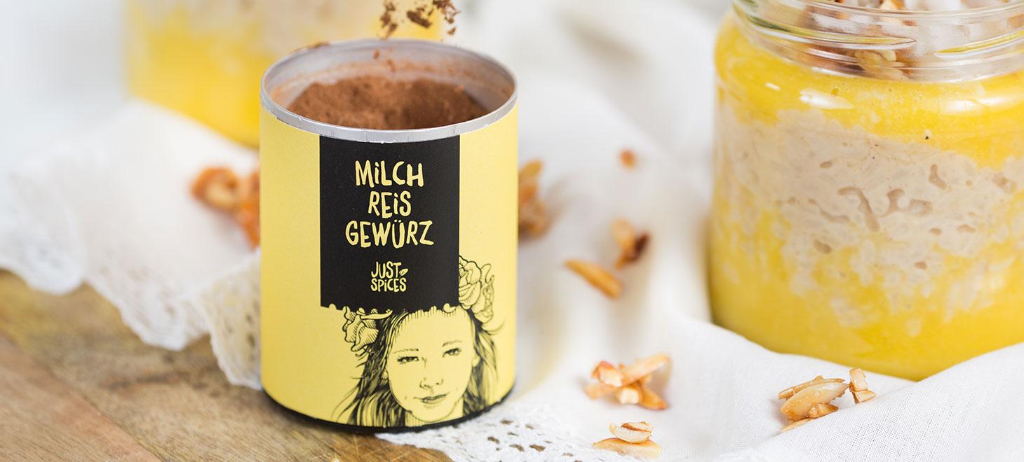 Milchreis Gericht Just Spices