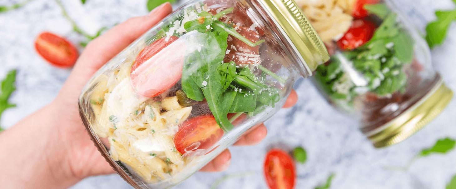 Glas mit Salat