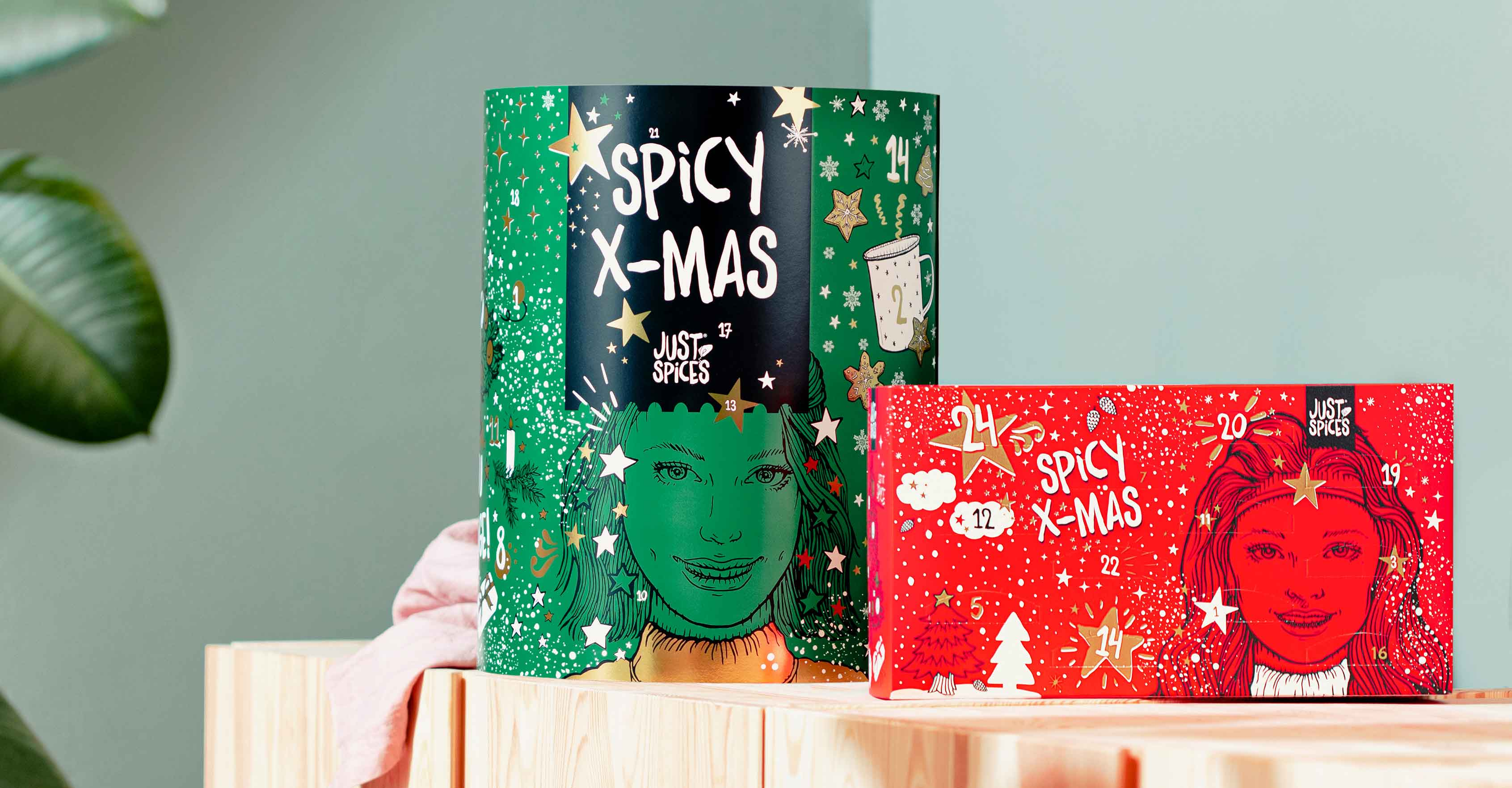 Großer und kleiner Adventskalender mit Gewürzen von Just Spices