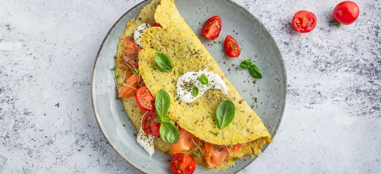 Rezept Omelette mit Lachs