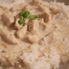 Hähnchen-Geschnetzeltes mit Reis