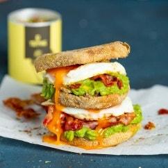 Spiegelei-Sandwich