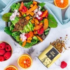 Green Kale Bowl mit Orange und Skyr