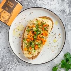 Hummus Gemüse-Stulle