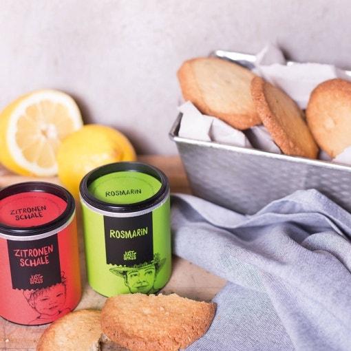 Zitronen-Rosmarin Kekse