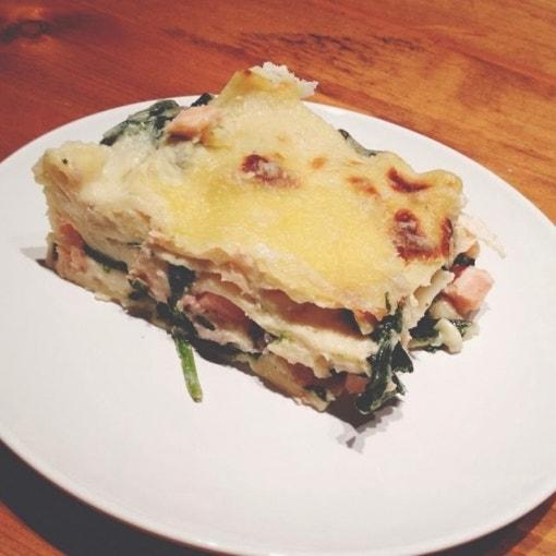 Spinat Lachs Lasagne