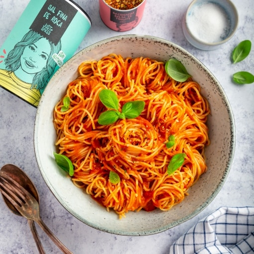Espaguetis a la napolitana