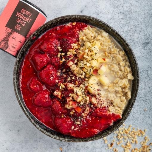 Himbeer Apfel-Porridge