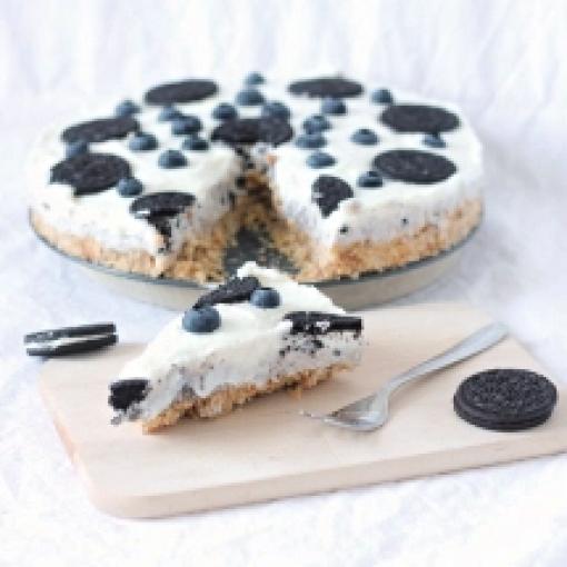 Joghurt-Oreo-Heidelbeeren-Kuchen