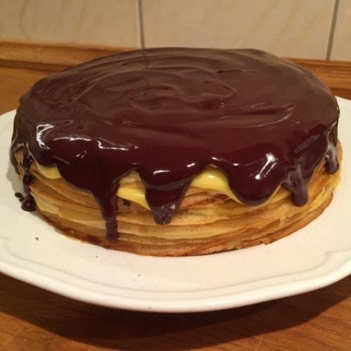 Boston Cream Crêpe Cake