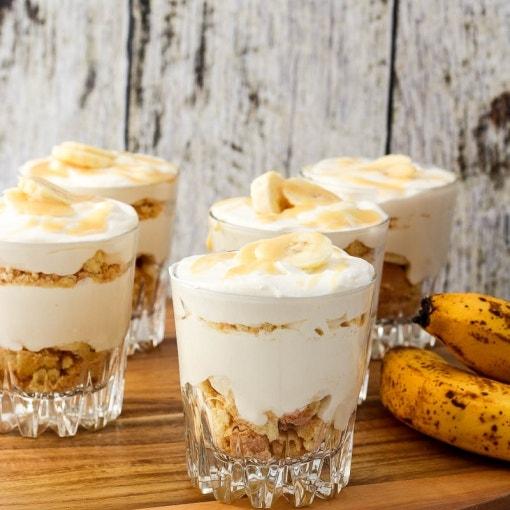 Bananen-Triffle mit Karamell