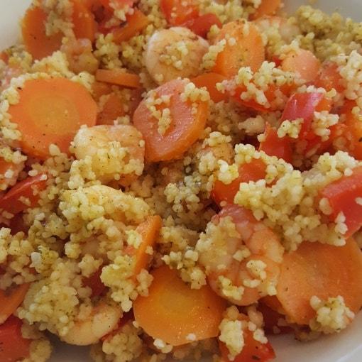 Garnelen-Gemüse-Couscous-Pfanne