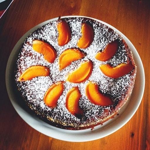 Pfirsich Quark Kuchen