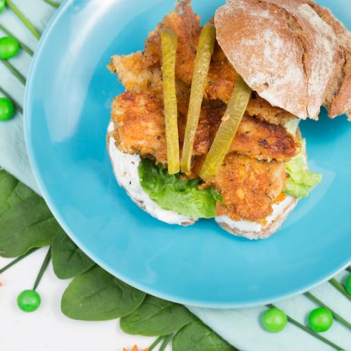 Fischstäbchen Burger für Kids