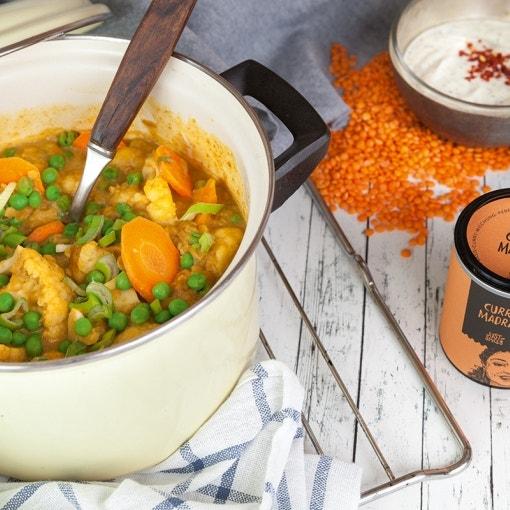 Möhren-Linsen-Curry
