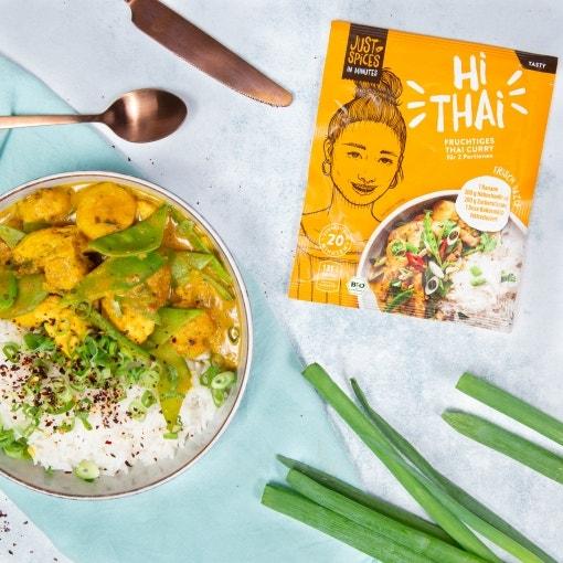 Einfaches Fruchtiges Hähnchen Thai Curry