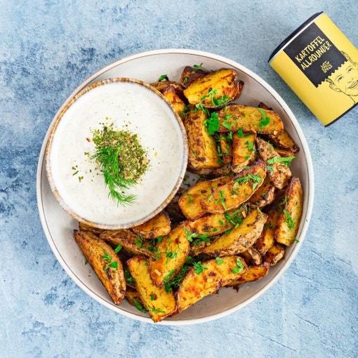 Kartoffel Wedges mit Sour Cream