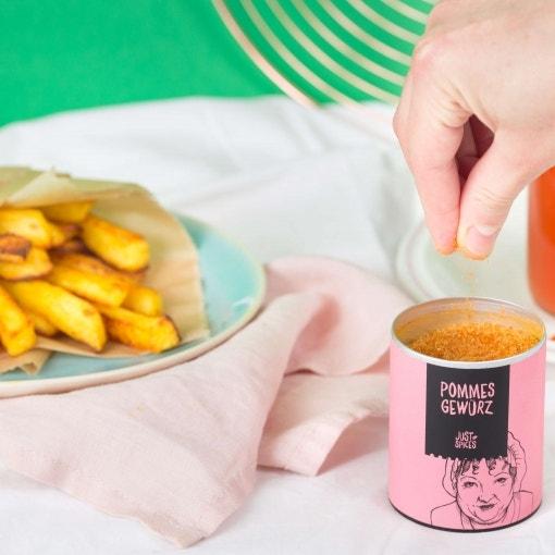 Ofen-Pommes mit selbstgemachtem Ketchup