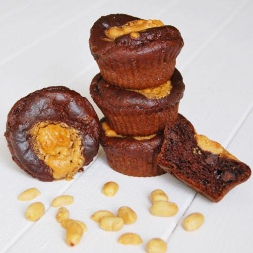 Schoko-Erdnuss-Muffins