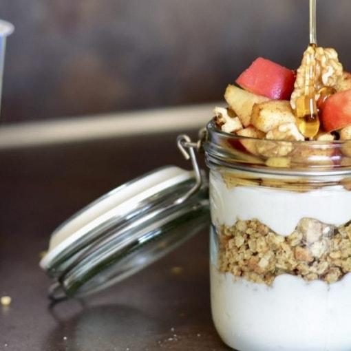 Herbstlicher Apfel-Zimt-Joghurt