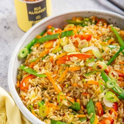 Gebratener Gemüse Reis