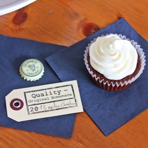 Guinness Cupcakes mit Cream Cheese Icing