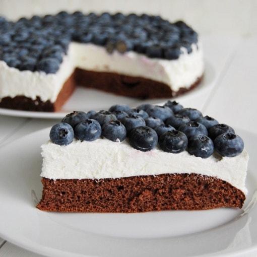 Schoko-Blaubeer-Torte