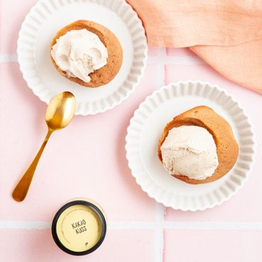 Muffins mit Vanilleeis