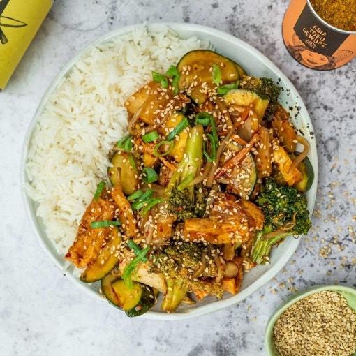 Kung Pao mit Gemüse und Tofu