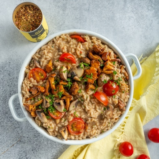 Cremiges Pilzrisotto