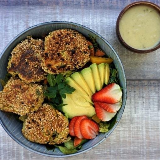 Ölfreie Falafel mit Sesam