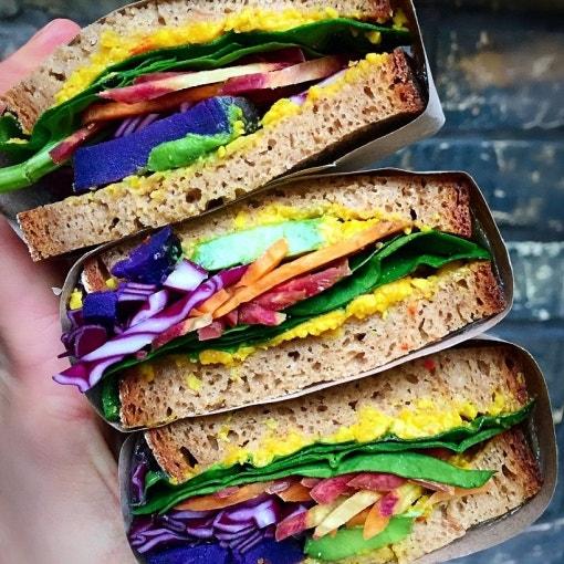 Regenbogen Sandwich