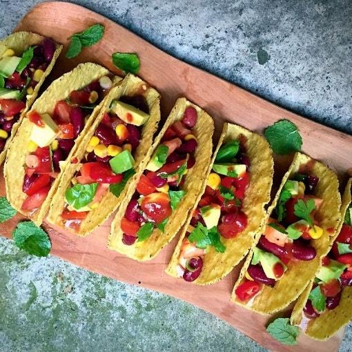 Mexikanische Gemüse Tacos