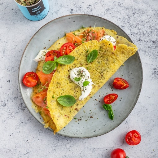 Omelette mit Lachs