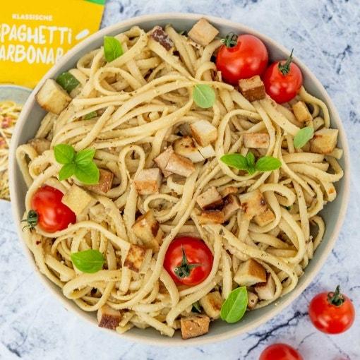 Einfache Vegane Spaghetti Carbonara