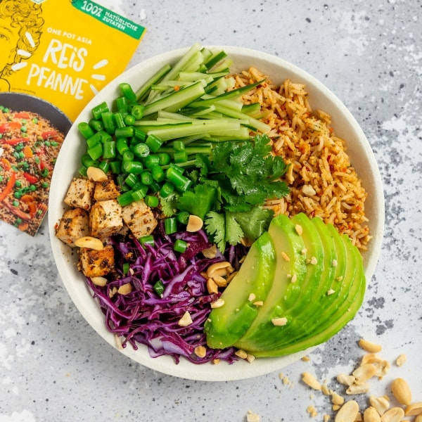 Einfache Asia Reis Bowl