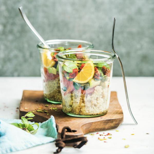 Quinoa-Salat mit Dörrtomaten