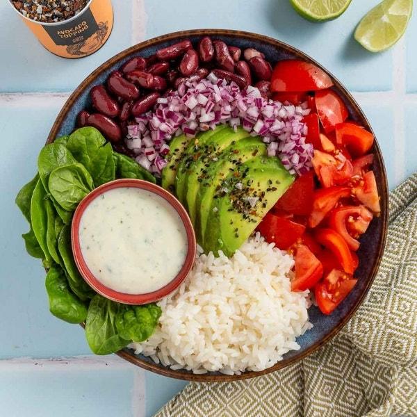 Burrito Bowl mit Avocado