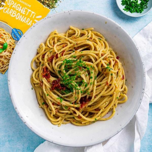 Einfache Klassische Spaghetti Carbonara
