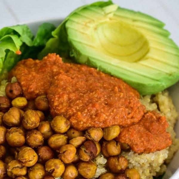 Kichererbsen-Quinoa-Bowl