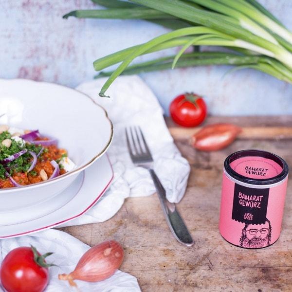 Tomatenbulgur mit Feta