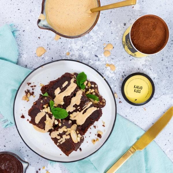 Peanut Butter Schokoladentraum und Erdnuss-Soße