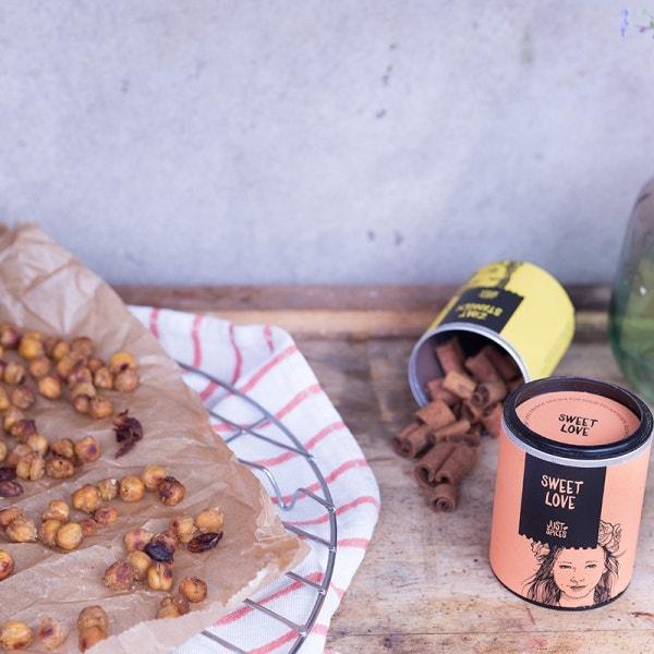Süß geröstete Kichererbsen